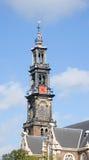 gammalt torn för 3 klocka Arkivbild