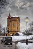 gammalt torn för skymning Royaltyfri Bild