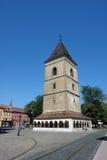 Gammalt torn i Kosice Royaltyfri Bild