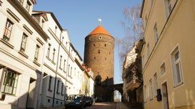 Gammalt torn i Sachsen Arkivfoto