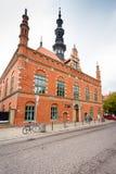 Gammalt townstadshus i Gdansk Arkivbild
