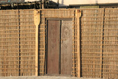 gammalt trä för arabiskt dubai hus Arkivbild