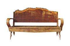 gammalt trä för armstol Arkivfoto