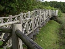 gammalt trä för bro Royaltyfria Bilder