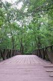gammalt trä för bro Arkivfoto