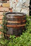 gammalt trä för cask royaltyfria bilder