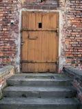 gammalt trä för dörröppning Royaltyfria Bilder