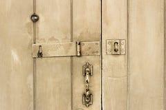 gammalt trä för dörr Arkivfoto