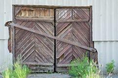gammalt trä för dörr Bakgrund och textur av gamla bräden Fotografering för Bildbyråer