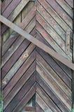 gammalt trä för dörr Bakgrund och textur av gamla bräden Royaltyfri Fotografi