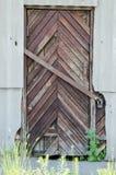 gammalt trä för dörr Bakgrund och textur av gamla bräden Royaltyfria Foton