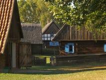 gammalt trä för hus Arkivbilder