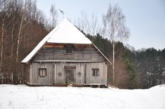 gammalt trä för hus royaltyfri bild