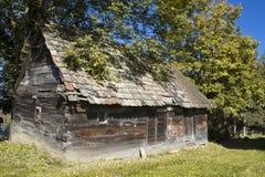 gammalt trä för hus Royaltyfria Bilder