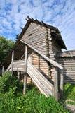gammalt trä för hus Arkivbild