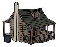 gammalt trä för hus stock illustrationer