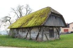 gammalt trä för ladugård Royaltyfri Foto