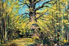 gammalt trä för oak Royaltyfri Bild