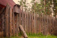 gammalt trä för staket royaltyfria foton