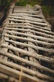 gammalt trä för stege Arkivbild