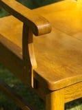 gammalt trä för stolsdetalj Arkivfoton