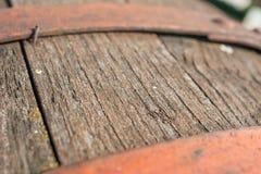 gammalt trä för trumma Arkivfoto
