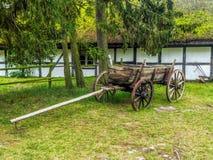 gammalt trä för vagn Arkivbild