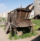 gammalt trä för vagn arkivbilder
