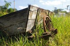 gammalt trä för vagn Royaltyfri Foto