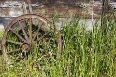 gammalt trä för vagn Arkivfoto