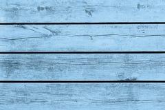Gammalt trä, textur, blått Royaltyfri Bild