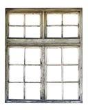 Gammalt träfönster royaltyfri foto