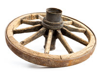 gammalt trävagnhjul fotografering för bildbyråer