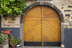 gammalt trä för dörr Fotografering för Bildbyråer