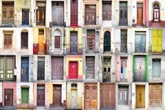 gammalt trä för dörrar Arkivfoto