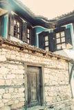 Gammalt traditionellt bulgarian hus Royaltyfri Foto