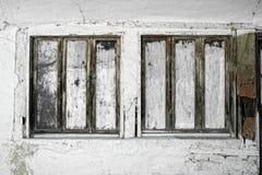 Gammalt traditionellt fönster i Grekland Arkivbild