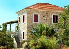 gammalt traditionellt för grekiskt hus Arkivfoton