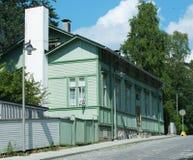 gammalt traditionellt trä för hus Arkivbilder