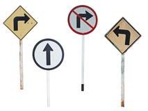 Gammalt trafikera symbolet på isolat royaltyfria foton