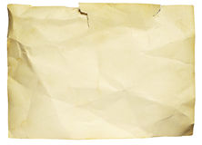 Gammalt trasigt papper arkivbild