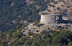 Gammalt turkiskt slott på den Crete ön i Grekland Royaltyfria Bilder