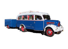 gammalt turnera för buss Royaltyfria Foton