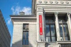 Gammalt universitetmuseum i i stadens centrum Montreal Arkivbild