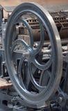 Gammalt utskrivande maskineri arkivbild