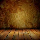 Gammalt vägg och golv Arkivbilder