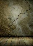 Gammalt vägg och golv stock illustrationer