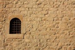 gammalt väggfönster Royaltyfri Foto