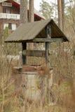Gammalt väl i för skog husen nära Royaltyfria Bilder