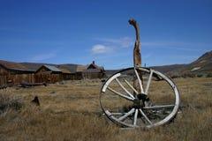 gammalt vagnhjul Royaltyfri Foto
